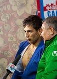 Umbayev Nasim дает интервью Стоковая Фотография RF