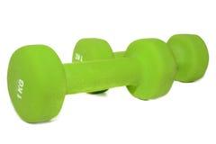 Umbbells веся один килограмм изолированный на белой предпосылке Стоковое Фото