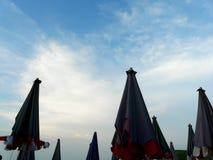 Umbella beach. Many of umbrellas in every Thailand beach Royalty Free Stock Photo