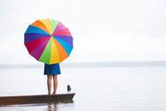 Umbella lleno del color Foto de archivo libre de regalías
