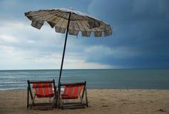 Umbella sulla spiaggia Immagine Stock Libera da Diritti