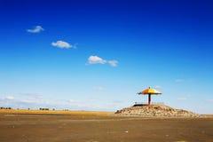 Umberlla sous le ciel photographie stock libre de droits