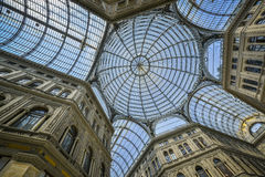 Umberto gallery in naples Stock Photography