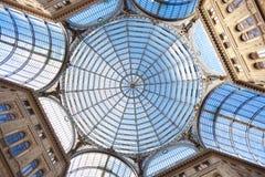 Umberto I galleri i Naples royaltyfri bild