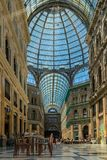 Umberto I galleri i Naples, 30 06 Italien 2018 fotografering för bildbyråer