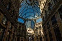 Umberto I galleri i staden av Naples arkivbild