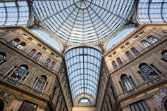 Umberto I gallery in Naples Stock Photos