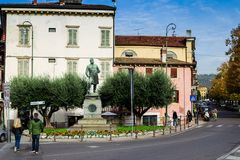 Umberto I monument i Verona, Italien Arkivbilder