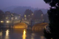 Umberto Przerzucam most w Turyn Włochy obrazy royalty free
