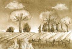 Umbra krajobraz Fotografia Stock