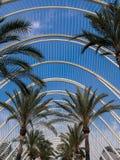 Umbracle, Stad van Kunsten en Wetenschappen, Valencia Royalty-vrije Stock Foto's