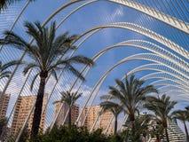 Umbracle, Stadt von Künsten und von Wissenschaften, Valencia Lizenzfreies Stockfoto