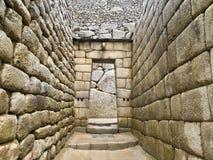 Umbral del templo del inca en Machu Picchu Imagen de archivo