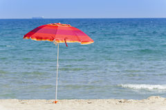 Umbrela on the beach. Colorful umbrella on the beach Stock Image