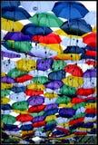 Umbrelas fotografia stock