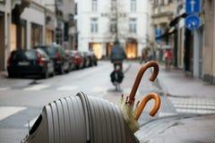 Umbrelas de Bélgica Fotografia de Stock