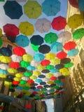 Umbrelas del arco iris Fotos de archivo
