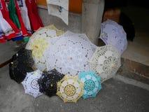 Umbrelas feitos a mão Fotografia de Stock