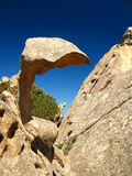 Umbrella. A strange rock in Sardinia stock photo