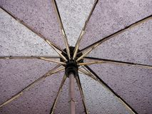 Umbrella. Inside umbrella covered with rain drops Royalty Free Stock Image