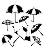 Umbrella. Images of umbrella. A vector illustration Stock Photo