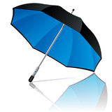 Umbrella. Open black and blue colors umbrella on white background. Vector illustration Royalty Free Stock Photo