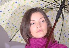 Umbrella. Woman with a umbrella during fall Stock Photography