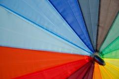 Umbrella. Colorful rainbow umbrella leading line Stock Photos