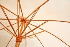 Umbrella. Close up a umbrella make bamboo royalty free stock photography