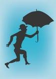 Umbrella. A illustration of a man holding an umbrella royalty free illustration