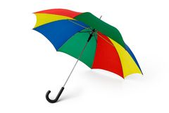 Umbrella. Colored Umbrella, made with a clipping-path Stock Image