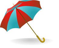 Umbrella. Blue and red umbrella, vector illustration Royalty Free Stock Images