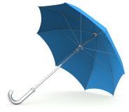 Umbrella. Blue Umbrella isolated on white Royalty Free Stock Photography