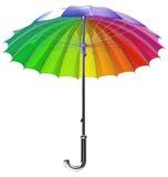 Umbrella. Rainbow Umbrella isolated on white Stock Photography