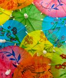 Umbrella. Color paper umbrella background image Stock Image