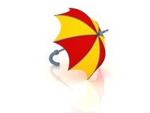 Umbrella. 3d render of umbrella for rain weather vector illustration