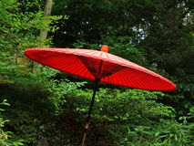 Umbrella. Japanese umbrella in a garden in japan royalty free stock photography