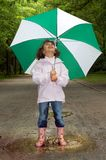 Umbrella And Boots Royalty Free Stock Photography