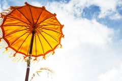 Umbrella on Bali Stock Image