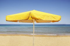 Umbrella on  a  Beach Stock Photography