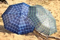 Umbrella on the beach Stock Photography