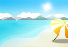 Umbrella on the beach Stock Photos