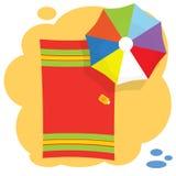 Umbrella on the beach Royalty Free Stock Image