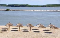 Umbrella beach Stock Images