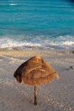 Umbrella on idyllic beach Stock Image