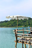 Umbrella on beach at Kood Island in thailand Stock Images