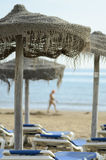 Umbrella beach at Torrevieja Stock Image