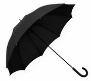 Umbrella black opened Stock Photos