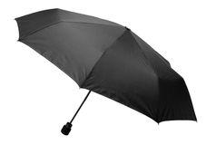 Umbrella black opened Stock Photography