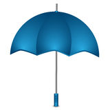 Umbrella of blue color Royalty Free Stock Photos